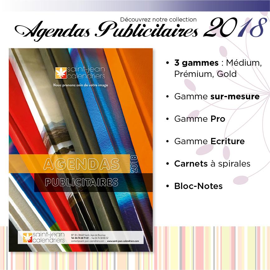 Catalogue agendas publicitaire 2018 saint jean calendriers for Bureau plus catalogue 2016