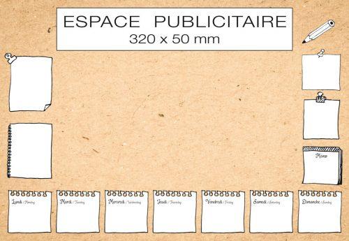 Fabricant français de sous-main publicitaire personnalisé modèle bureau