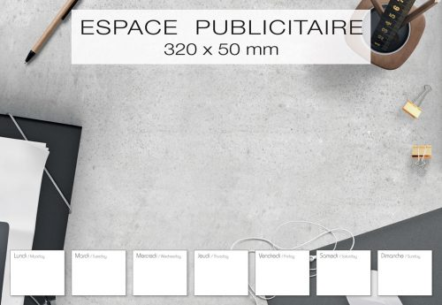 Fabricant français de sous-main publicitaire personnalisé modèle design
