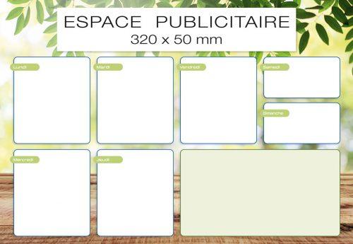 Fabricant français de sous-main publicitaire personnalisé modèle hebdo