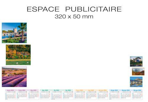 Fabricant français de sous-main publicitaire personnalisé modèle paysages de France